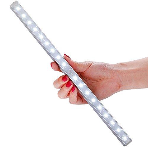 Lampe Armoire 18 LEDs Rechargeable, LOFTER Lampe Detecteur de Mouvement Automatique Sans-fil, 3 modes d'éclairage, Veilleuse Enfant Placard Garage Titoir Escalier meuble Penderie Cusine Commode Buffet Salle de Bain Sortie Toilette (Lumière Blanc)