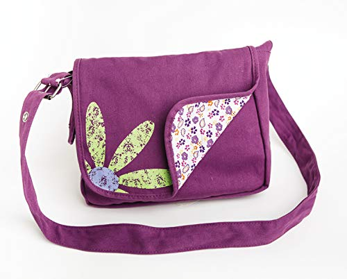 Faithgirlz Messenger Bag Grape Med: Medium Fits Most Standard Size Books and Bibles Up to 6 1/8' to 8 13/16'