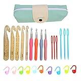 Juego de ganchillo, herramienta para tejer a ganchillo, juego de ganchillo, crochet de cristal, herramientas para tejer, aguja para suéter, accesorios para tejer