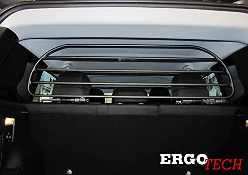 ERGOTECH Divisorio Griglia Rete Divisoria Compatibile con Jeep Renegade, RDA65HBG-M kjp007, per Trasporto Cani e Bagagli.