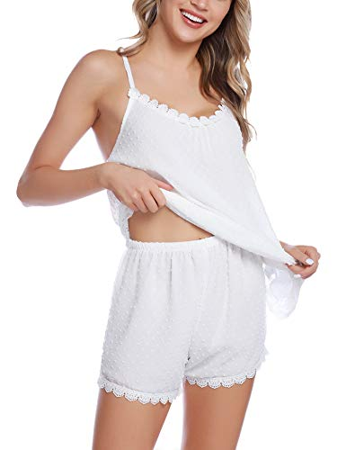 iClosam Especiales de Verano Pijamas Mujer Tirantes Verano Corto Set,Camiseta de Tirantes y Short Ropa de Dormir Sexy y Comodo