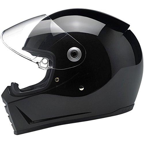 Biltwell Lane Splitter Helmet - Gloss Black - Medium