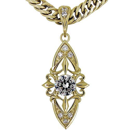 [プレジュール]ネックレス メンズ イエローゴールド 18金 K18 ダイヤモンド 喜平ネックレス
