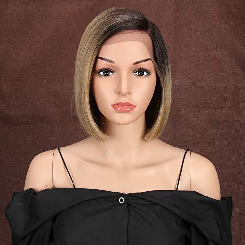 Style Icon Lace Front Perücken 9'/22cm Bob Wigs Synthetische Perücke Natürliche Gerade Kurze Qualität Perücken Für Frauen Hitzebeständige Fasern Spitze Front