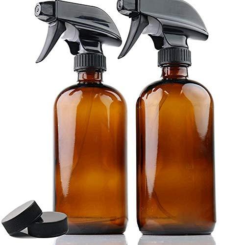 Hengory Frascos de Spray 250/500 ml de Vidrio, Dos Paquetes, bombonas Amber, recipientes...