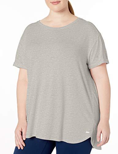 Amazon Essentials Women's Plus Size Studio Relaxed-Fit Lightweight Crewneck T-Shirt, Medium Grey Heather, 3X