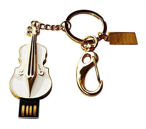 E.T. INSIDE metalen viool vorm USB Flash Drive in geschenkdoos merk Stylus, 32GB, Meerkleurig