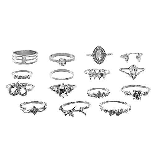 Richo Boho Finger Rings Set for Women and Girls, Knuckle Stacking Rings, Joint Midi Finger Rings, 5/7/15pcs