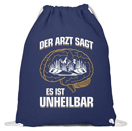 shirt-o-magic Tischler Schreiner: .es ist unheilbar - Baumwoll Gymsac -37cm-46cm-Marineblau