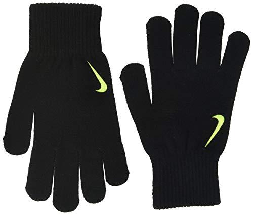 Nike Unisex, Jugendliche Swoosh Knit Glove Handschuhe Kinder, Schwarz/Volt, L-XL