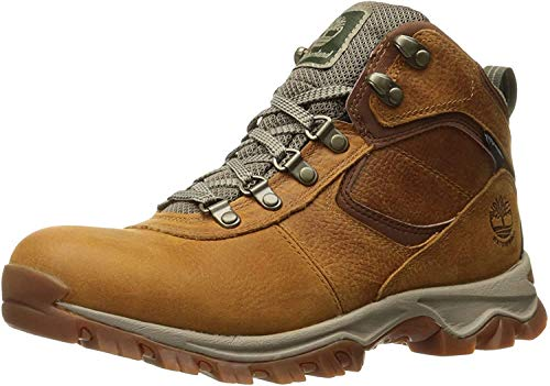 Timberland Men's Mt. Maddsen Mid Leather Wp Hiking Boot, light brown full grain, 7.5 Medium US