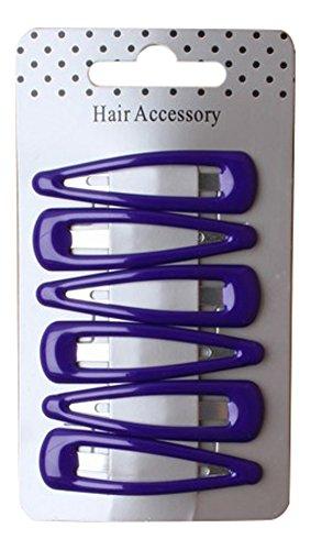 6 Filles Violet Plastique Barrettes