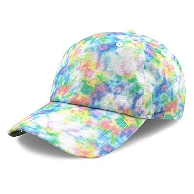 The Hat Depot Kids Washed Low Profile Cotton & Denim & Tie Dye Plain Baseball Cap Hat