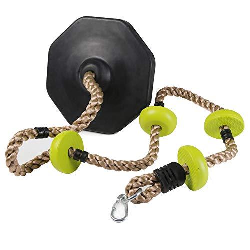 Pellor Kletterseil mit Knoten, Kinder Klettern Schaukel Schaukelseil mit Sicherheit Basis Sport Spielzeug Combo Set