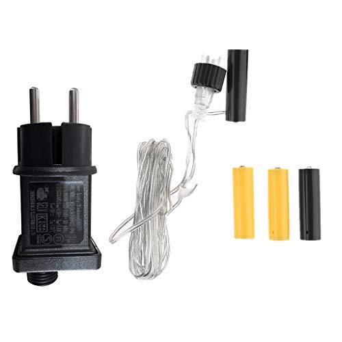 Batterie Adapter AA AAA-Batterieeliminator Ersetzen Sie 2x 3x AA AAA-Batteriekabel Für Radio-LED-Licht Weihnachten Dekoration(AA)
