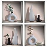 Sticker mural 3D TOARTi Vases