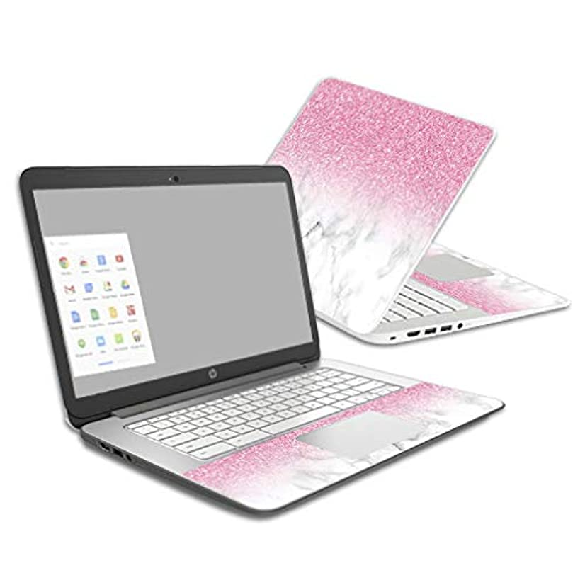 Mightyskins Skin Compatible with Hp Chromebook 14 (2014) - Marble Glitz | Protective, Durable, and Unique Vinyl Decal Wrap Cover | Easy to Apply, Remove, and Change Styles | Made in The USA
