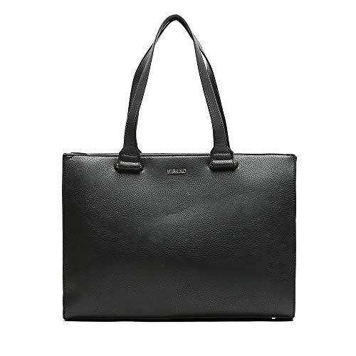 Misako – Maletín Portátil de Mujer Viva 9 X 39 X 29 cm en Color Negro | Maletín en Polipiel | Portaordenador | Portadocumentos | Bolso de Portátil