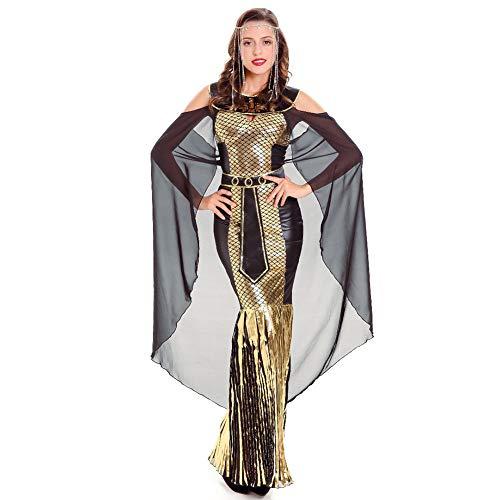 CGBF - Vestido de diosa griega de Athena con lentejuelas para Halloween, cosplay, carnaval, fiestas temáticas, dorado, XL