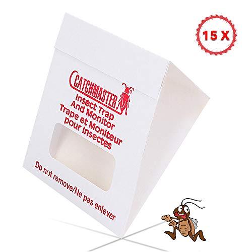 Best pest control - Trampa para cucarachas (sin veneno, fácil de usar contra plagas, eficaz control de plagas, con cebo integrado)