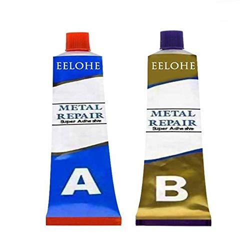 Kafuter 2 botellas 20/50 / 100g Industrial resistencia al calor materiales de soldadura en frío pasta de reparación de Metal pegamento de soldadura mágico (100g)