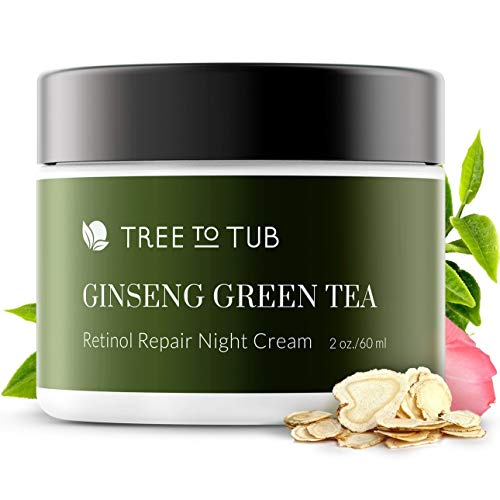 Tree to Tub Pure Retinol Sensitive Skin Face Cream. The Only Ph 5.5 Anti Aging Moisturizer For Advanced Night Repair With Pure Hyaluronic Acid,Natural Vitamin E,Vitamin C For Face,2 Oz