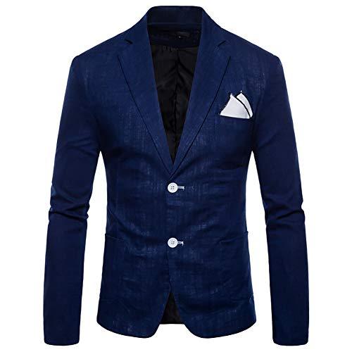 Story of life nonchalante blazer katoen en linnen met twee knopen mantel slim fit lange mouwen jack Prom Smoking bruiloft jassen