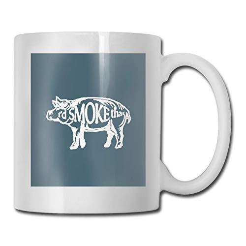 I 'd e That Pig Taza, taza de café para bebidas calientes, taza de gres, taza de café de cerámica, taza de té de 11 oz, regalo divertido, taza de té y café