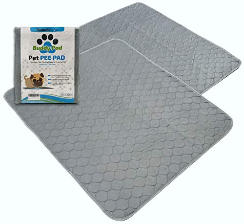 Buddy Pad Washable Pet Pee Pads for Dogs, Crate/Kennel 30 in x 36 in Large Training, Whelping, Odor Control, Leak-Proof, Absorbent, Non Slip Padded Silicone, Reusable, Waterproof, Easy Clean