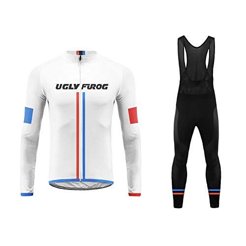 Uglyfrog Radtrikot Set Pro: Fahrradhose Pro/Thermo Radhose/Windstopper + Fahrradtrikot Pro/Thermo Radtrikot/Winter Fleece Anzüge