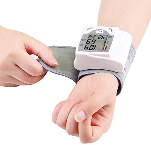 NCONCO 1 Stück Automatische Digitale LCD-Anzeige Handgelenk Blutdruckmessgerät Tonometer Blutdruckmessgeräte Pulsometer Weiß