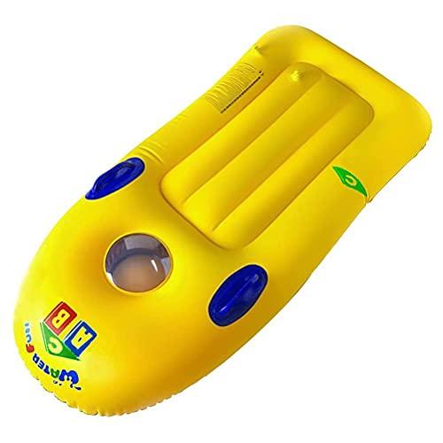 Cricia Flotador Inflable para la Playa de Bodyboard con Asas Flotador Inflable portátil para Piscina de Tabla de Surf para niños, Adultos, Playa, Surf, natación, Verano, diversión en el Agua