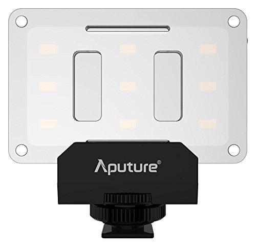 Aputure Amaran AL-M9 LED-Licht für DSLR- oder DSLM-Kameras - groß wie eine Kreditkarte, 80 Lux (100 cm), CRI 95+, Leuchtwinkel 120 Grad