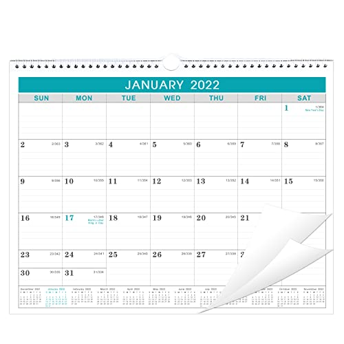 Calendar 2022 - Wall Calendar 2022 from January 2022 to December 2022, 12 Months Calendar with Julian Date, 14.75 x 11.5 Inches, Thick Paper for Organizing & Planning