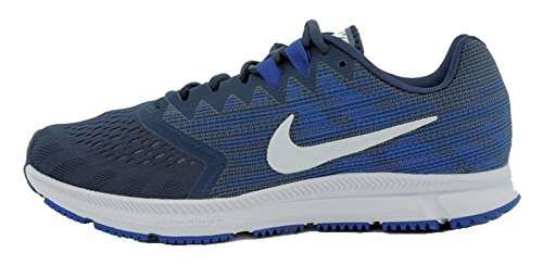 Nike Herren Laufschuh Zoom Span 2, Zapatillas de Running Hombre, Azul (Navy/White-Hyper Roy 403), 42.5 EU