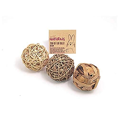 Rosewood Pet Naturals Trio of Fun Balls for All Small Animals