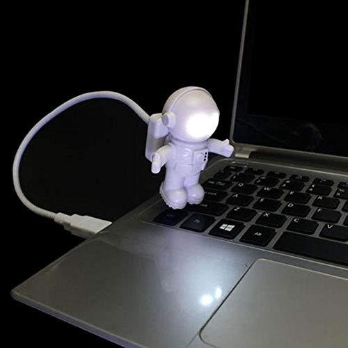 XHSHLID Flexibele Spaceman Astronaut USB-buis LED nachtlampje lamp voor laptop PC draagbaar DC 5 V Creative