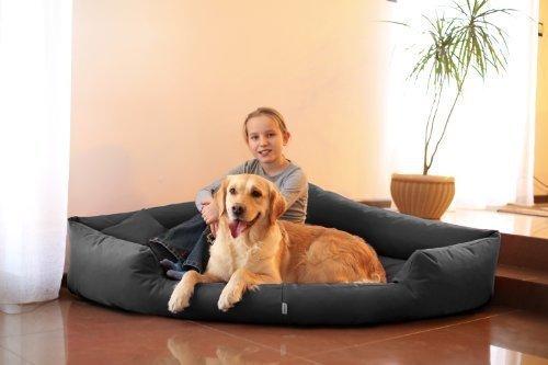 tierlando Hundebett Trivia Eckbett Dreieckbett Ecksofa M L XL dreieckig Ecke Hundesofa A Größe TR5-120cm | B Farbe: 02/Graphit