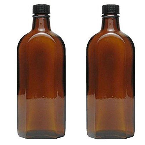 mikken - 2X Medizinflasche in Braunglas Apothekerflasche inkl. Etiketten a 250ml
