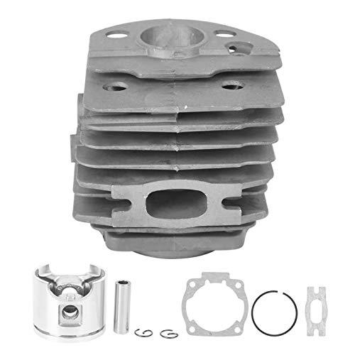 EVTSCAN Últimos kits de pistón de cilindro de aluminio, herramienta de hardware de repuesto para motosierra, accesorios para Husqvarna 55, diámetro del pistón de 46 mm, con dos aletas de refri