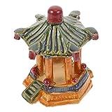 PATKAW Decoración de Pecera de Cerámica 1 Pieza 8X9. 5X12cm Ornamento de Paisajismo de Pecera Estatua Vívida Decoración de Acuario Castillo de Acuario Decoraciones de Peceras