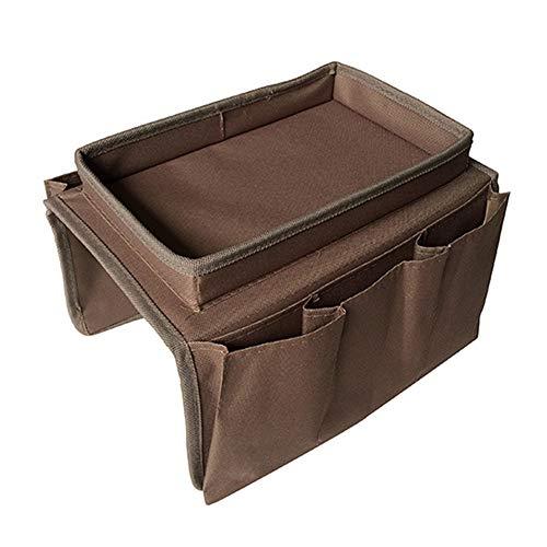 Dlicsy - Organizer per bracciolo da divano, bracciolo per divano, borsa da appendere per bottiglia d