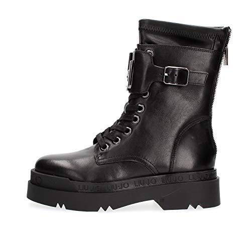 Liu Jo Shoes Womens Love Fashion Boot, Black, 39 EU