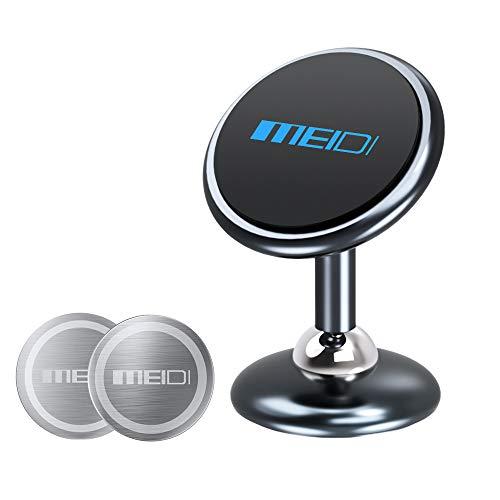 MEIDI Soporte magnético para teléfono móvil, Soporte para imán para Tablero de Instrumentos Soporte para teléfono de rotación Universal de 360 °, Soporte para iPhone GPS Samsung Huaiwei,para el hogar