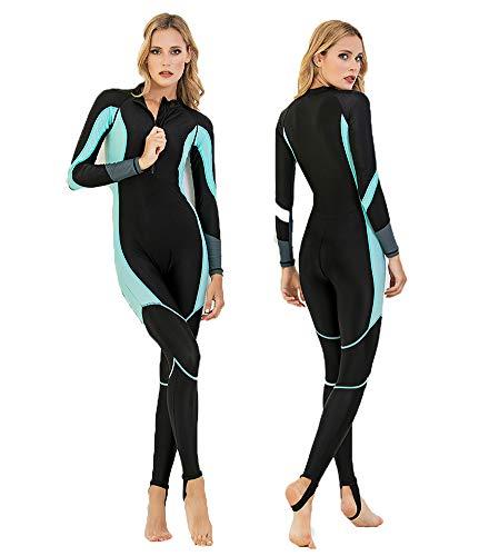 YRX Traje de neopreno para mujer de buceo y vela Surfsuit para mujer, traje de baño, traje de baño para niñas, negro, L