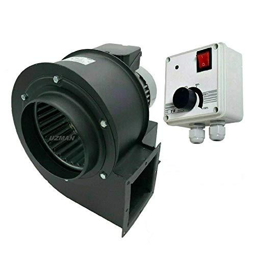 Uzman - Spedizione OBR-200M - Ventola radiale con regolatore di rotazione industriale da 400 Watt, ventilatore centrifuga, ventilatore radiale, ventilatore radiale, ventilatore da parete