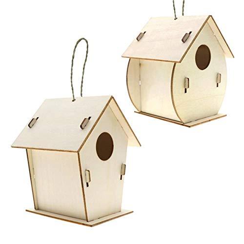 Ablerfly Kit de Bricolaje para casa de pájaros, construcción y Pintura de Madera para pájaros, Incluye Pinturas y Pinceles, Manualidades para niños de 4 a 8 años