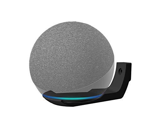 Amazon Alexa Echo Dot 4th Generation Slim Wall Mount Bracket Shelf Works With Echo Spot Designed & 3D Printed in UK (Black)