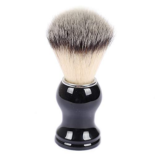 Shaving Brushes, JR 0.79inch Synthetic Nylon Brush Hair Knot with Pure Black Engineered Plastic Handle Shaving Brush for Men, Safety Razor, Double Edge Razor, Shaving Razor