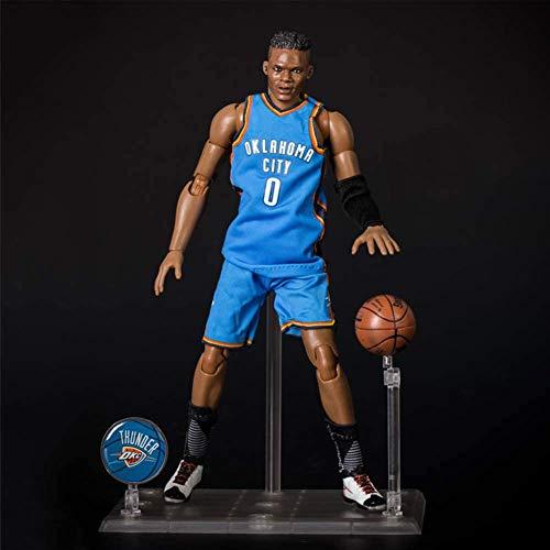 Serie di Stelle NBA in Scala 1/9 Action Figures di Westbrook Oklahoma City No.0 Modello Statua del Fumetto in PVC Decorazioni Ornamenti Regalo Popolare